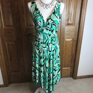 Blue Sage Party Cocktail Dress